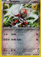 Carte Pokemon 78/108 Scalpion 60pv 2012 Reverse - Pokemon