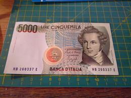 156969 BIGLIETTO DA APPUNTAMENTO DA DENTISTA A FORMA DI ABNCONOTA DA 5000 LIRE - Andere Sammlungen