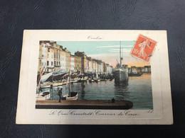 TOULON Le Quai Cronstadt. Courrier De Corse (cadre En Creux)  1911 Timbrée - Toulon