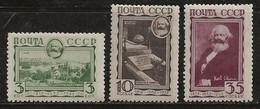 Russie 1933 N° Y&T : 473 à 475 * - Ongebruikt