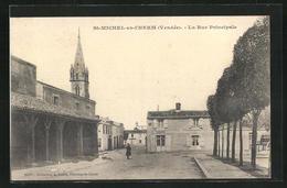 CPA St-Michel-en-l'Herm, La Rue Principale - Saint Michel En L'Herm