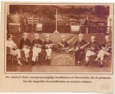 Orig. Knipsel Coupure Tijdschrift Magazine - Herentals - Groep Muzikanten De Junior's Jazz  - 1928 - Unclassified