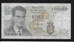 Belgique - 20 Francs - 15-6-1964 - Pick N°138 - TB - Unclassified
