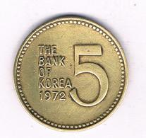 5 WON 1972 ZUID KOREA /7403/ - Korea, South