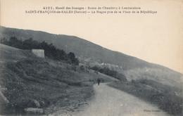 CPA - St François De Salles - Route De Chambéry à Lescheraines - La Magne Pris De La Place De La République - France