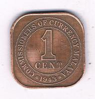 1 CENT  1943 MALAYA MALEISIE /7410/ - Malesia