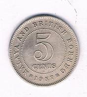 5 CENTS  1957 MALAYA AND BRITISH BORNEO  MALEISIE /7411/ - Malesia