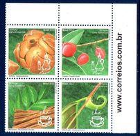 Bresil Brasil 3229/32 Plantes Medicinales, Huiles Essentielles, Infusion - Plantas Medicinales