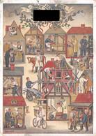 Drittes Reich 1936 Farbige Sonderkarte Offizielle Postkarte Zum Reichshandwerkertag Arbeit Und Ehre - Storia Postale