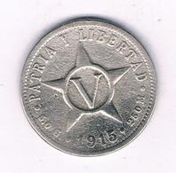 5 CENTAVOS 1915 CUBA /7416/ - Cuba