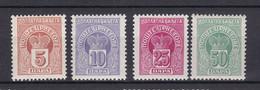 Montenegro - Portomarken - 1907 - Michel Nr. 19/22 - Ungebr.m.Falz - Montenegro