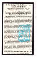 DP Karel Morlion ° Bulskamp 1863 † Houtem 1935 X S. Morael Xx P. Best / Veurne - Picture Cards