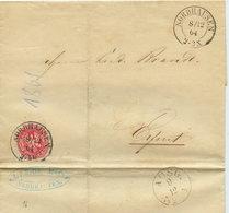 1864 NORDHAUSEN Bfh M. 1 Sgr N. Erfurt - Germania