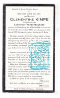 DP Clementine Kimpe ° Oudenburg 1868 † Oostende 1927 X Ludovicus Vandenbouhede - Picture Cards