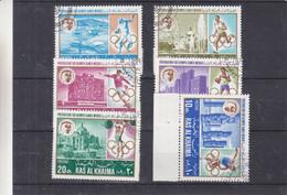 Jeux Olympiques - Ras Al Khaima - Série Oblitéré De 1968 - Escrime-football-boxe-haltérophilie-disque-athlétisme - Ete 1968: Mexico