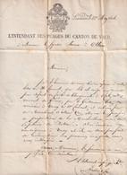 LETTER SWITZERLAND  TO OLLON - 1826 - L'INTENDANT DES PEAGES DU CANTON DE VAUD - CANCELL  LAUSANNE - - Historical Documents