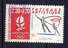JO Albertville 1990 France - Frankreich Y&T N°2633 - Michel N°2757 (o) - 2,30f+20c Patinage Artistique - Winter 1992: Albertville