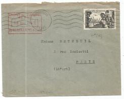 N°543 SEUL LETTRE AUBERVILLIERS 18.V.1942 1ER JOUR DU TIMBRE ET AU TARIF - Marcophilie (Lettres)
