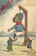 Militaria Satirique De Telam Son Dernier Combat Avec Le Sabre Aiguisé Colorisée Recto Verso - Patriotic