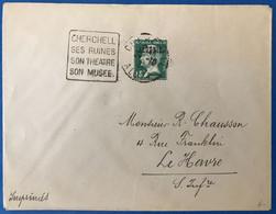 Algérie N°11 Sur Enveloppe (tarif Imprimé) - Daguin CHERCHELL, Algérie Pour Le Havre 1931 - (B3534) - Cartas
