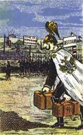 Militaria Satirique Illustrateur Le Retour Avec Des Valises ! Colorisée Recto Verso - Patriotic