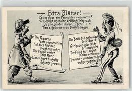 53142715 - Extra Blaetter Soldaten Karikatur - Weltkrieg 1914-18