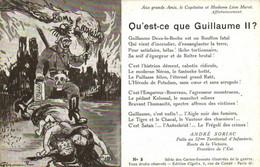 Militaria Satirique Qu'est Ce Que Guillaume II ? André Soriac  Colorisée Recto Verso - Patriotic