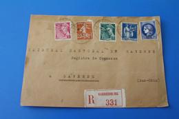 SARREBOURG Marcophilie Lettre Recommandé 1929:devant De Lettre-☛SAVERNE Aff. Multiple Timbres-Mercure-Cérès-Paix-Semeuse - Postmark Collection (Covers)