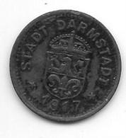 *notgeld Darmstadt 10 Pfennig 1917 Zn  2759.1 / F88.1a - [ 2] 1871-1918: Deutsches Kaiserreich