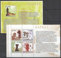 WW725 2007 S.TOME E PRINCIPE CHESS XADREZ MICHEL #3103-6 1KB+1BL MNH - Schach