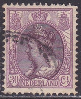 1899 Koningin Wilhelmina 30 Cent Violet/bruin NVPH 72 Verschoven Medaillon - Errors & Oddities