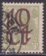 1923 Opruimingsuitgifte 10  / 3 Cent Groen NVPH 116 Opdruk Verschoven Naar Links - Errors & Oddities