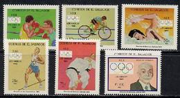 El Salvador 1984 Olympic Games Los Angeles, Judo, Cycling Etc. Set Of 6 MNH - Verano 1984: Los Angeles