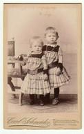 CDV Photo Foto Um 1890/95 - Carl Schneider, Reichenbach - Zwei Süße Kleine Kinder - Old (before 1900)