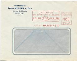 LETTRE1965 AVEC EMA PAPIER VELIN MULLER - EMA (Empreintes Machines à Affranchir)