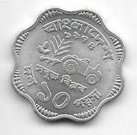 *bangladesh 10 Poisha 1974 Km 7  Unc/ms63 - Bangladesh