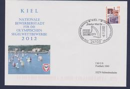 Germany Cover Posted Kiel 2002 Kiel Nationale Bewerberstadt Für Die Olympischen Segelwettbewerbe 2012 - Sommer 2012: London