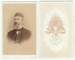 CDV Photo Foto Um 1880 - Th. Wode, Giesen - GUTE RÜCKSEITE - Feiner Alter Herr Mit Kappe U. Bart - Old (before 1900)
