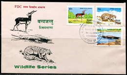 FP2151 Nepal 1984 Animal Snow Leopard Crocodile Etc. FDC - Stamps