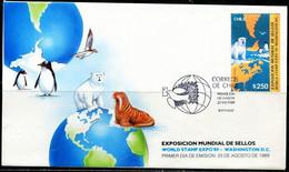 FP2161 Chile 1989 Polar Animal Polar Bear Walrus FDC - Stamps