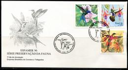 FP2162 Brazil 1996 Bird Hummingbird FDC - Stamps