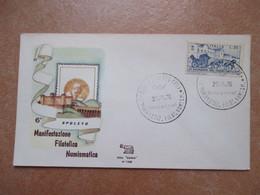 ANNULLO SPECIALE 27.9.1970 SPOLETO Mostra Filatelica Numismatica FDC Roma - 1961-70: Marcofilia