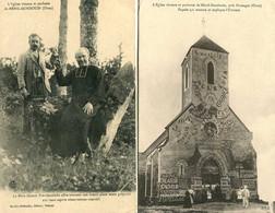 MENIL-GONDOUIN  = église Vivante / La Mère Nature Providentielle : 2 Cpa     1609 - Other Municipalities
