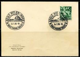 FP2169 German 1938 Torchbearer Stamped Postcard - Stamps