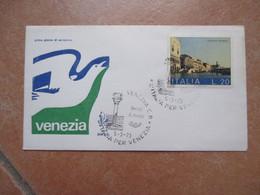 ANNULLO SPECIALE 5.3.1973 VENEZIA L.20 Busta Venetia Numerata N.2930 - 1971-80: Marcofilia