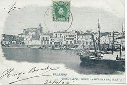 ESPAGNE - PALAMOS - VISTA PARCIAL DESDE LA MURALLA DEL PUERTO - 1904 - Gerona