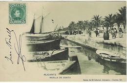 ESPAGNE - ALICANTE - MUELLE DE COSTA - 1905 - Alicante