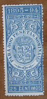 1893 1894 SPAGNA Fiscali Revenue Tax  500 Pesetas - Usato - Fiscales