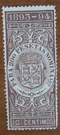 1893 1894 SPAGNA Fiscali Revenue Tax  200 Pesetas - Usato - Fiscales