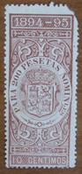 1894 1895 SPAGNA Fiscali Revenue Tax  200 Pesetas - Usato - Fiscales